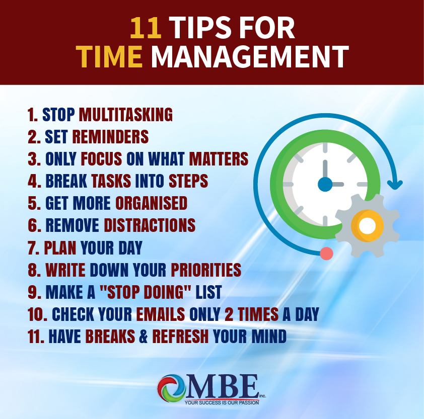 TIME MANAGEMENT - TOP 11 TIPS THAT WORK