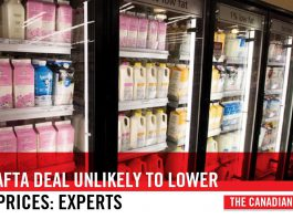 NEW NAFTA DEAL UNLIKELY TO LOWER DAIRY PRICES EXPERTS