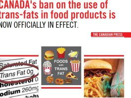 canada ban on the use of transfats