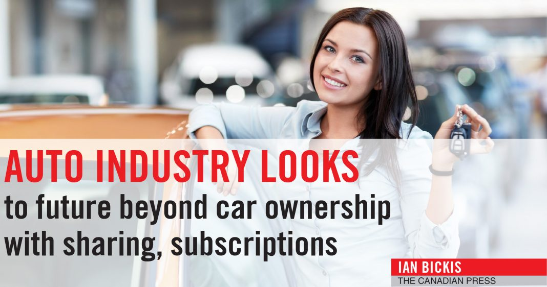 AUTO INDUSTRY LOOKS TO FUTURE - CAR OWNERSHIP WITH SHARING
