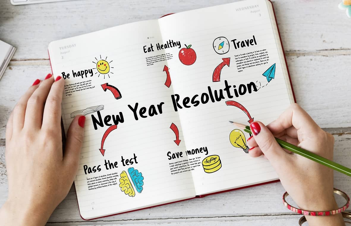Making a new year resolution for your future goals