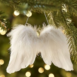 Flying with the Christmas wings