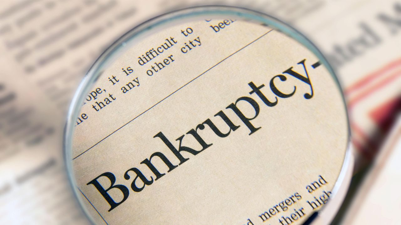 If a client has filed bankruptcy due to a loan they can't pay or any mortgage payments